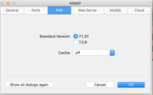 MAMP-PHPバージョン設定