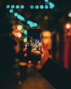 スマートフォンでの画像